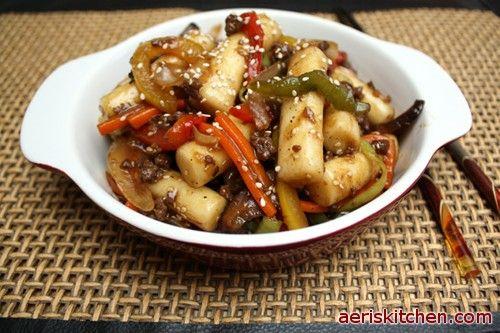 Royal Palace TteokBokkI - my first korean dish