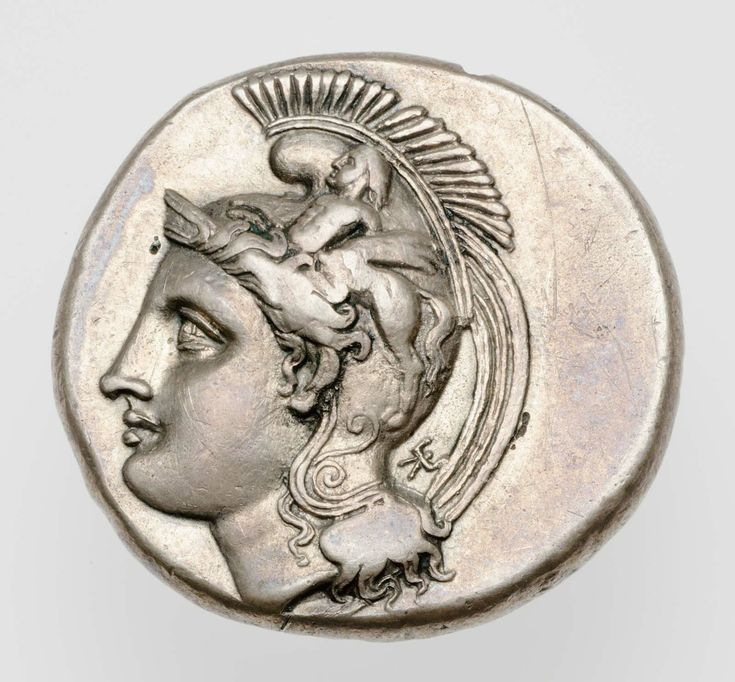 Silver stater of Velia (Hyele) with head of Athena (obverse). Greek. Classical or Hellenistic Period. 400-317 B.C. | The Museum of Fine Arts, Boston