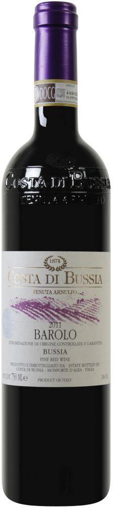 Costa di Bussia - Tenuta Arnulfo - Barolo DOCG, Ein Wein von leuchtend-rubinroter Farbe mit braunem Rand. Frischer und leicht süßlicher Duft mit vielen Eindrücken von roter Frucht wie Johannisbeere und Kirsch