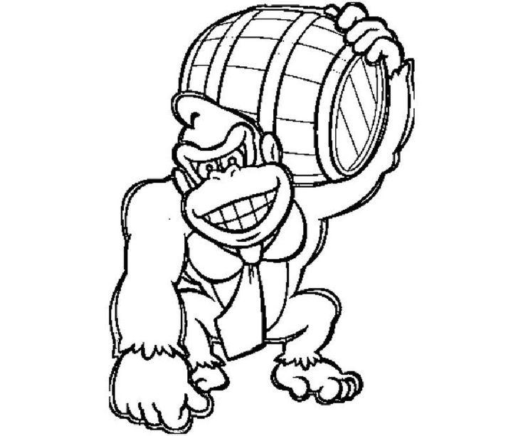 Donkey Kong Coloring Pages | Educative Printable | Animal ...