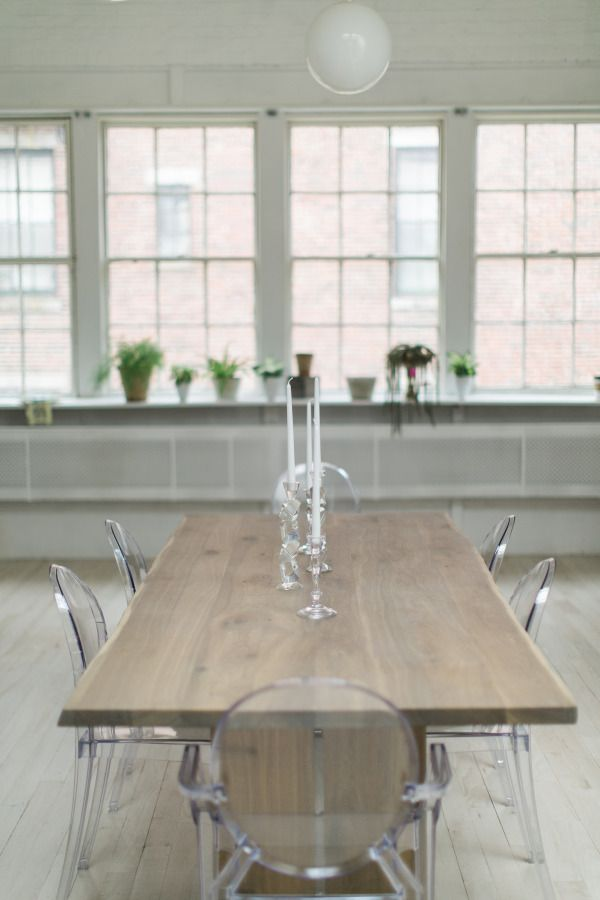 Ghost chairs: http://www.stylemepretty.com/living/2015/03/03/ultimate-dining-chair-roundup/