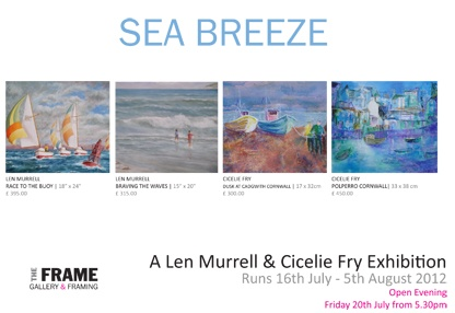 July - August Len Murrell & Ciceile Fry