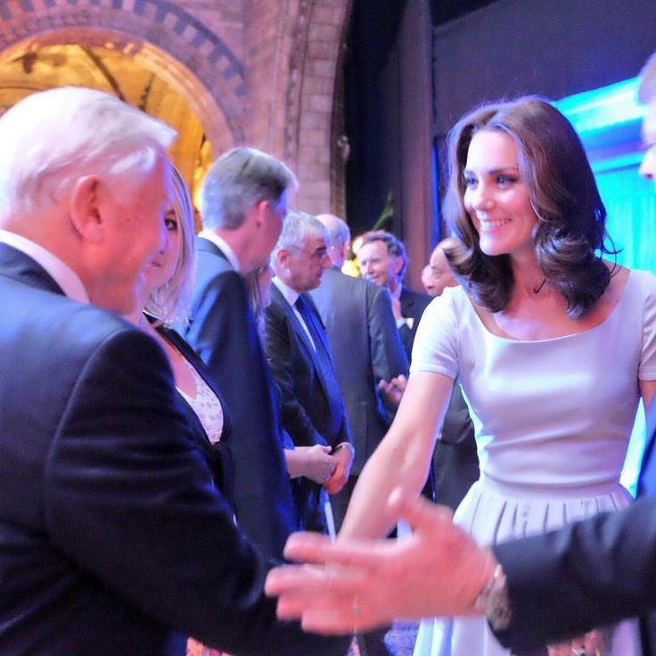 "37.2k Likes, 149 Comments - Kensington Palace (@kensingtonroyal) on Instagram: ""The Duchess of Cambridge greets Sir David Attenborough at the opening of the National History…"""