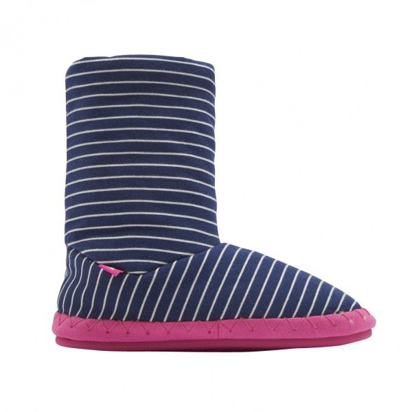 It's that time of year again. The time to invest in a pair of fluffy slipper boots to keep your feet as warm as toast. Designer Joules Slipper Boots with navy stripe also are at the top of the Christmas list!  £19.95 with free UK delivery.