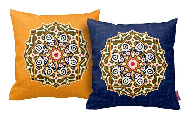 LUXE ORIENTAL STYLE CUSHION SET OF TWO
