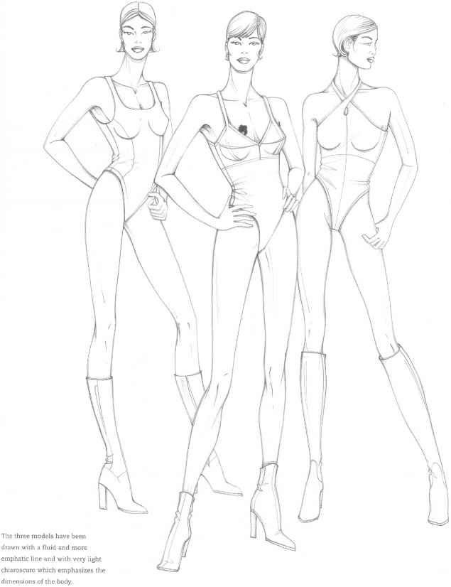 Figure Model Fashion Design