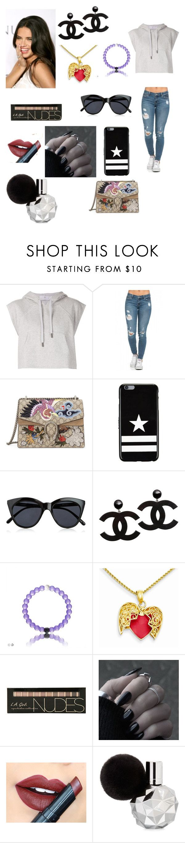 """""""Laura's outfit day in Lima, Peru"""" by onedirectionforever1297 on Polyvore featuring adidas, Gucci, Givenchy, Le Specs and Fiebiger"""