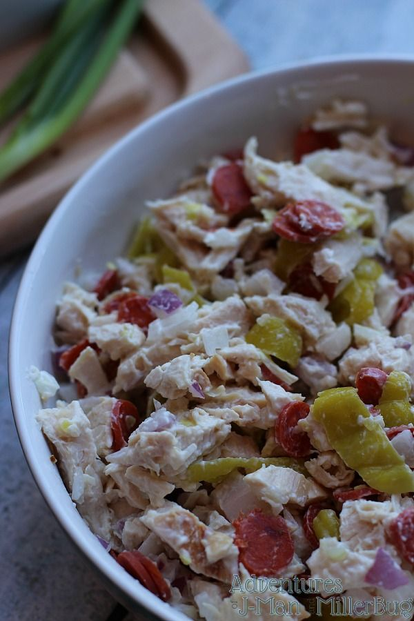 #PepItUp #ad Italian Chicken Salad Recipe Process 4