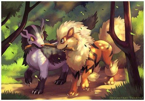 arcanine, mightyena, and pokemon Bild