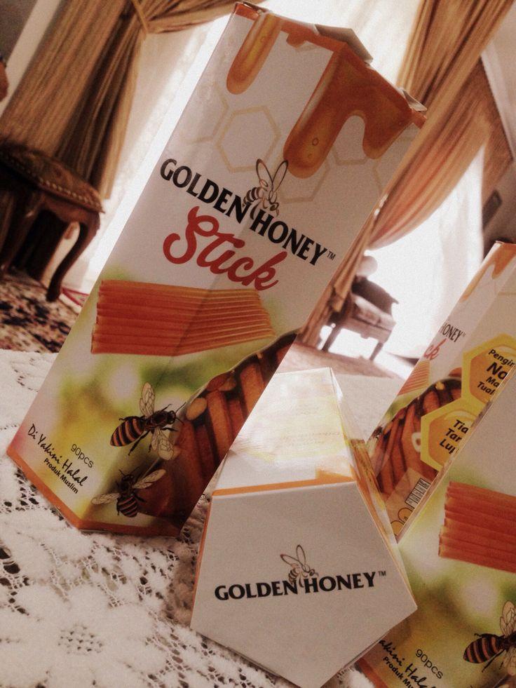 [GOLDEN HONEY STICK]   Berapa ramai yang rasa packaging ini cantik?   Say 'I'   #goldenhoney