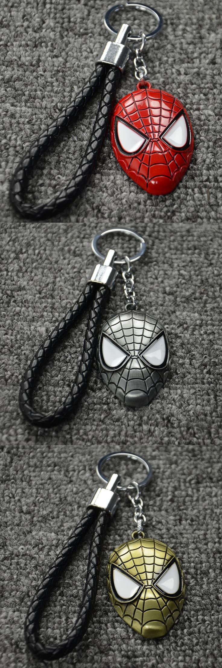 Hot Sales Key Chain Ring Pendant Creative Car Styling Purse Bag Backpack Spiderman Car & Motorcycle Keychain Car Accessories