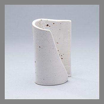 KYLLIKKI SALMENHAARA, CERAMIC SCULPTURE. Winding. Signed KS, c. 1980.  #bukowskis #bukowskismarket #design #scandinavia #ceramics #kyllikkisalmenhaara