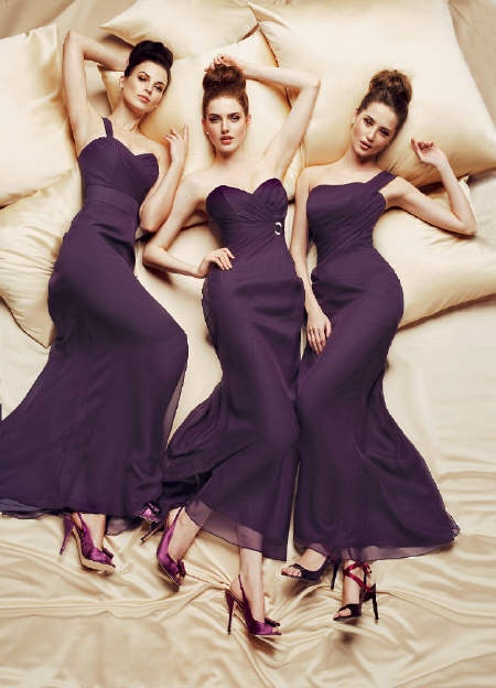 Purple Bridesmaid gowns (yes of course all colours to order)