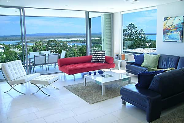 """The Rise Noosa - Noosa, Sunshine Coast and Hinterland - """"The Rise Noosa apartments make their own thrilling statement about the evolution of the Australian beach house. How far we have come from hot little fibro cottages to these stunning examples of the architectural craft. They combine and unify the best of many cultural streams from a little bit of Bali to a touch of Bauhaus."""""""