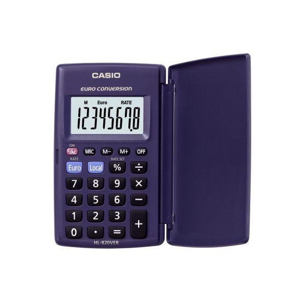 KALKULATOR CASIO HL-820VER - 8-pozycyjny wyświetlacz - zasilany baterią - funkcja przeliczania walut - obliczenia procentowe - pamięć niezależna - twarda plastikowa obudowa - 2 lata gwarancji - wymiary: zamknięty 10 x 62,5 x 104 mm, otwa  Cena netto 32,51 netto