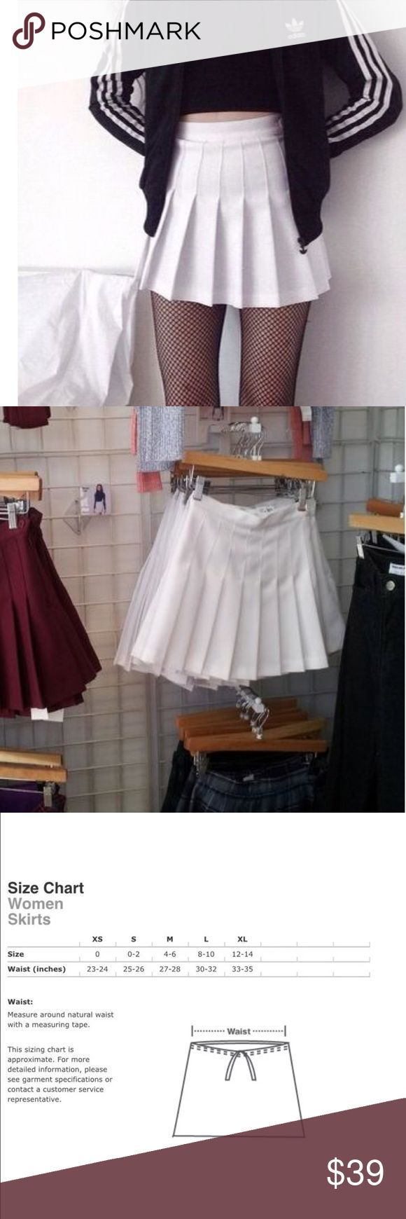 American Apparel white Pleated tennis skirt xs American Apparel skirt. New with tags. American Apparel Skirts Mini