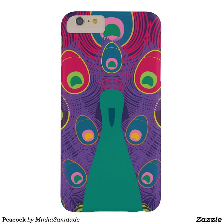 Multi Coloured and vibrant Peacock Barely There iPhone 6 Plus Case
