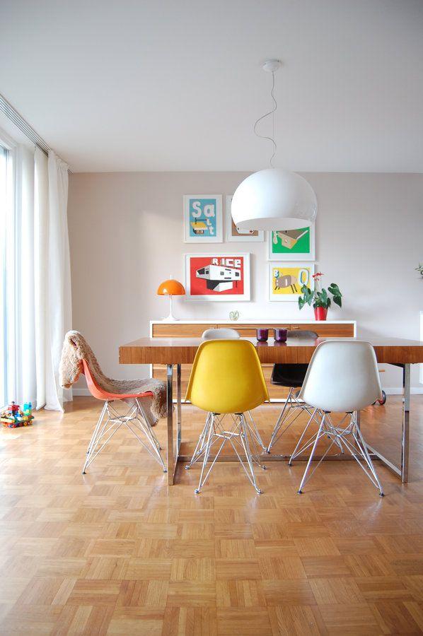 Die besten 25+ gelbe Essstuhl Ideen auf Pinterest Küchenstühle - wohnzimmer rot gelb