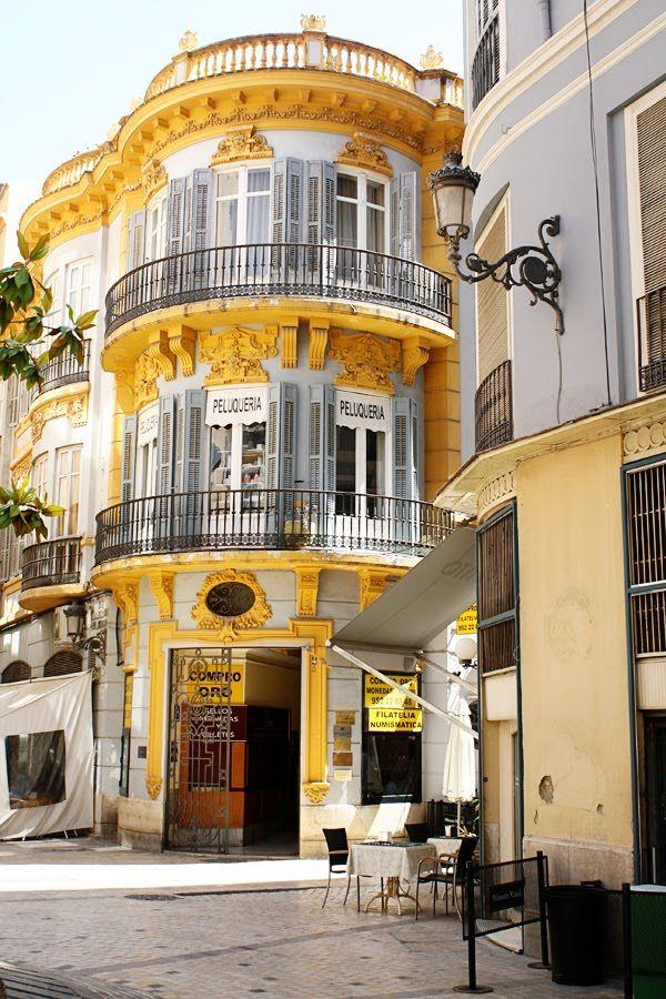 Malaga, Spain. Ornate colourful details...
