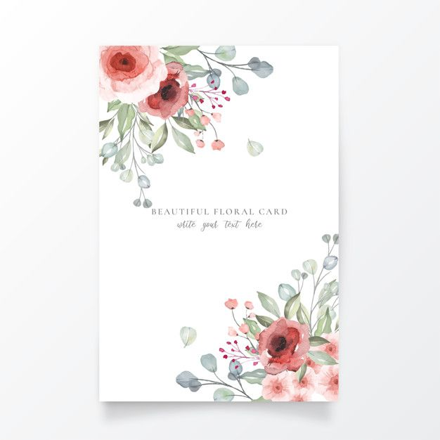 Download Beautiful Floral Card Template For Free Cherry Blossom Background Floral Cards Pink And White Background
