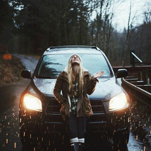 I will stop to stand in the rain and just let it pour. I will jump into the car just to drive around in the rain!