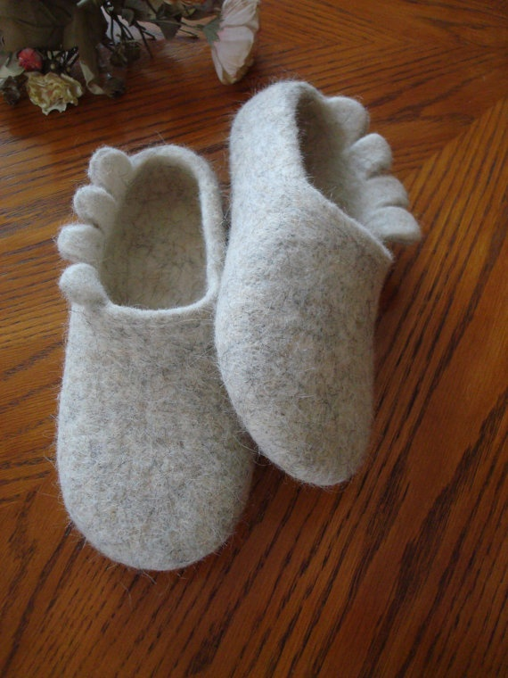 Wool Felted Slippers on Etsy