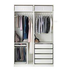 PAX Wardrobe - - IKEA  Slightly longer section on left side for long dresses