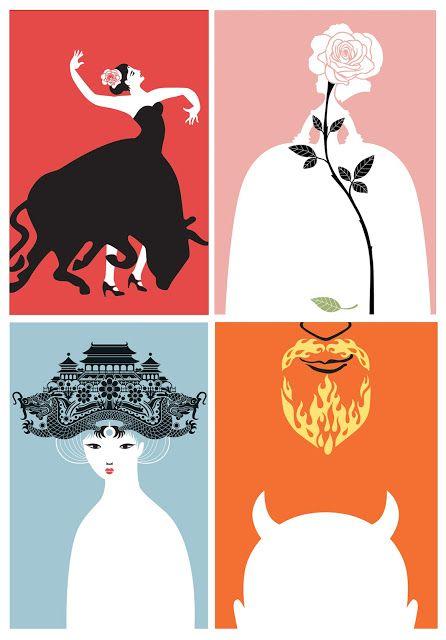 illustration+letterpress: Opera Posters {illustration}