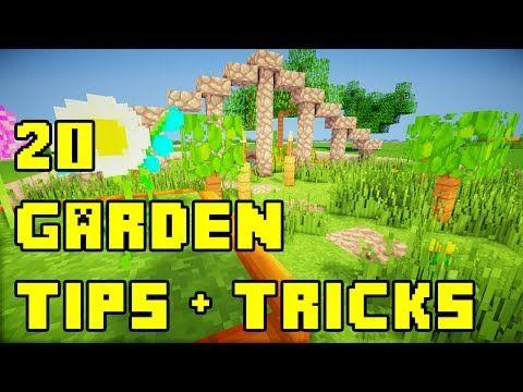Minecraft 20 Backyard Garden Landscaping Ideas Tutorial