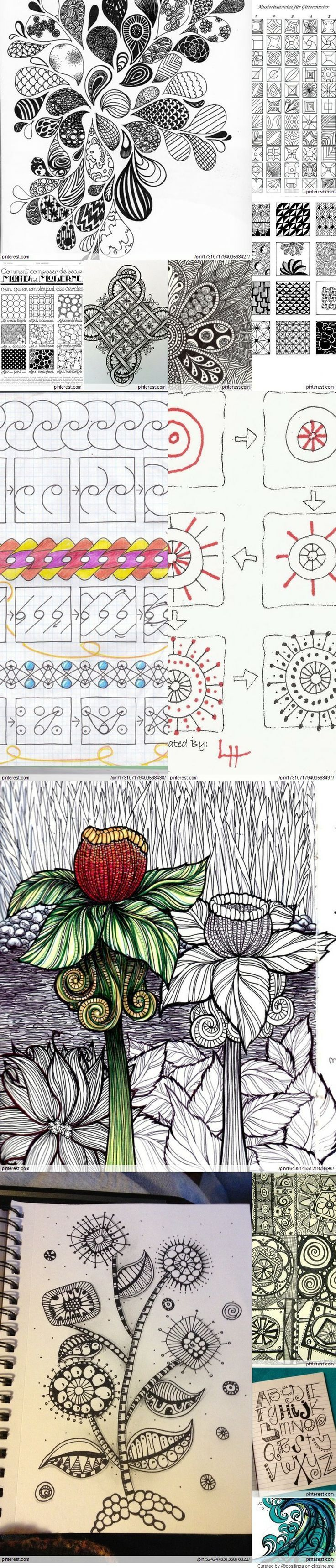 zentangle and doodle: