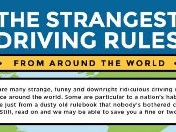 Infographic: The strangest driving rules from around the world