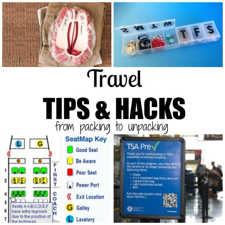 Travel tips and hacks  http://princesspinkygirl.com/travel-hacks/2/