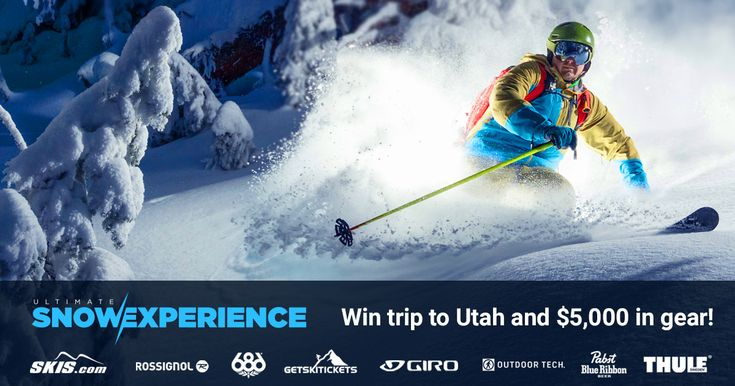 Enter for a chance to win the Ultimate Snow Experience. You and a friend will fly to Utah where you will enjoy 5 days of riding, and a ton of new gear from Rossignol, 686, Outdoor Tech, Giro, Thule...
