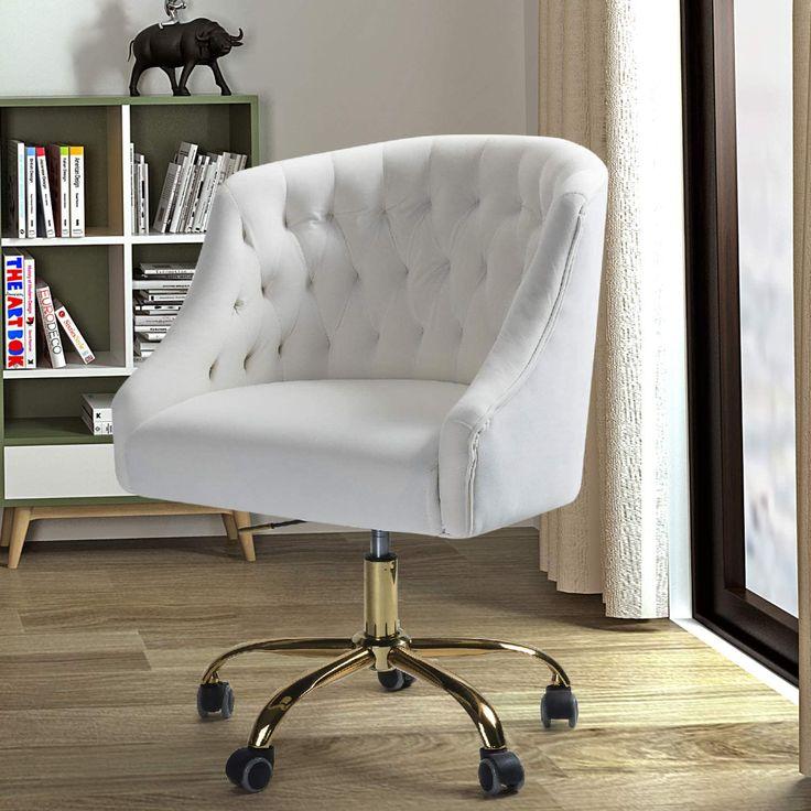 Amazonsmile velvet fabric swivel task chair for home