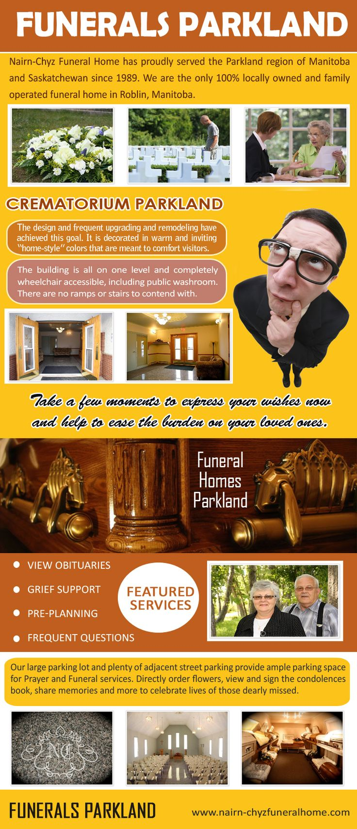 Pop over to this web-site http://delicious.com/casketroblin for more information on Funeral Home Parkland.Each family is unique, each death is unique, and therefore each funeral service is unique. Follow us https://www.smore.com/u/coffinsroblin