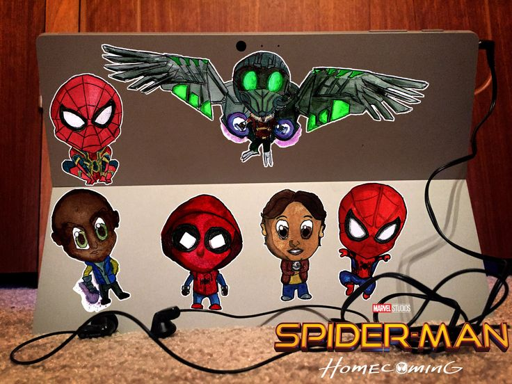A personal favourite from my Etsy shop https://www.etsy.com/au/listing/549171775/chibi-spider-man-homecoming-decals