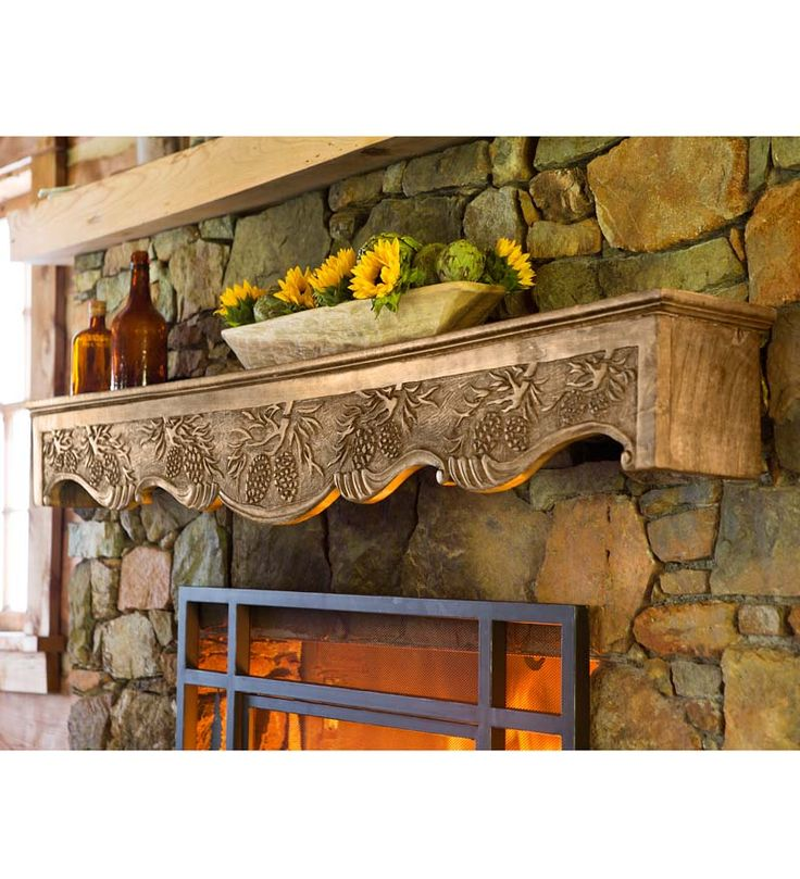 Hand Carved Wood Pine Cone Mantel Susan Want So You