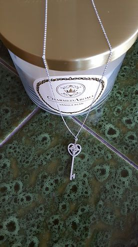 "Charmed Aroma Stirling Silver Necklace Candle in ""Vanilla Bean"" Sweeeeet!!!"