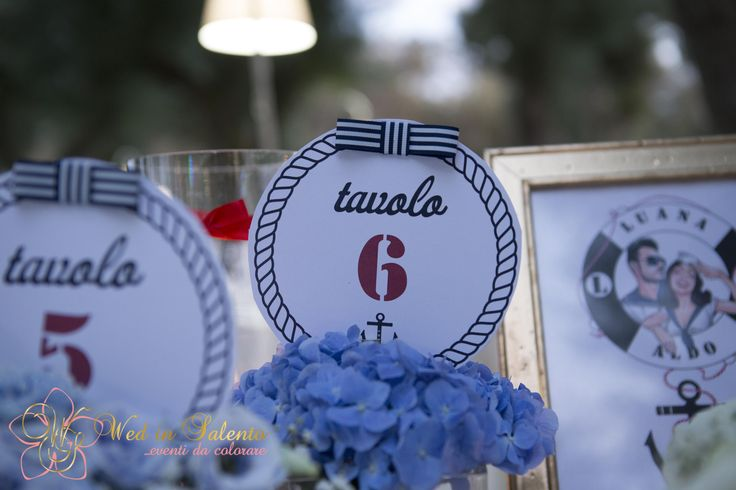 tablesetting for a nautical vintage wedding in Puglia.