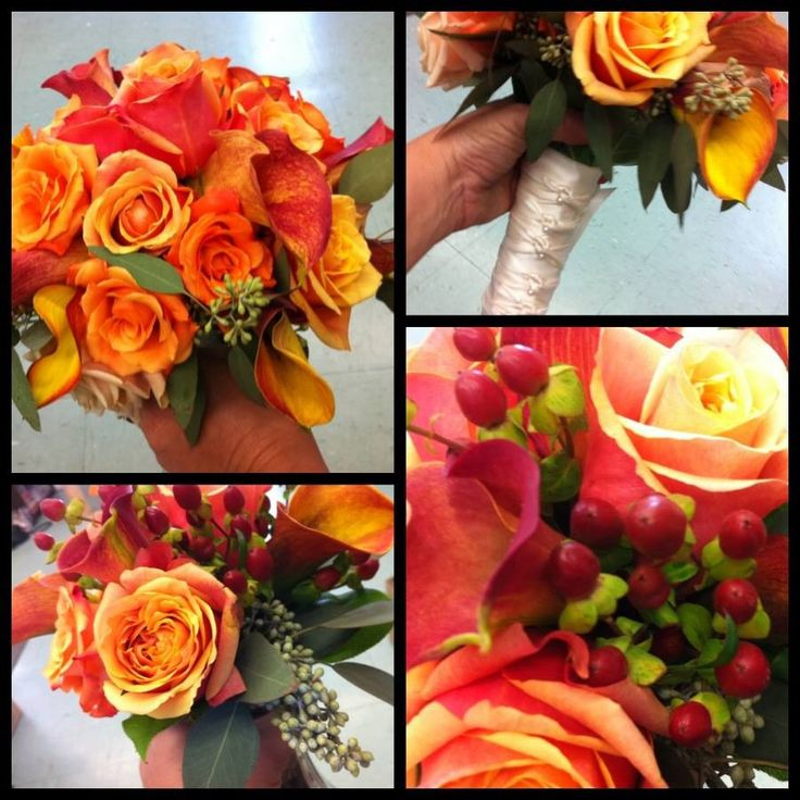 Fall bride and bridesmaids bouquets  @ Dutch Tulip  #weddings #bouquets #fall