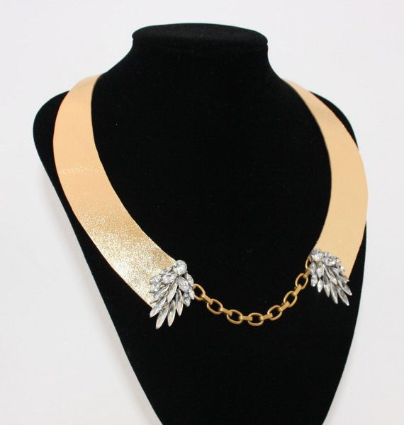 Unique one off statement neckpiece by Deccoangel on Etsy