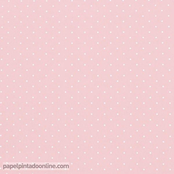 Papel pintado infantil babies 10152 con topitos blancos for Papel pintado blanco y gris
