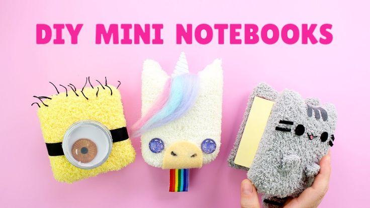 Back to School DIY! Mini Plush Notebooks | Pusheen, Unicorn & Minion Not...
