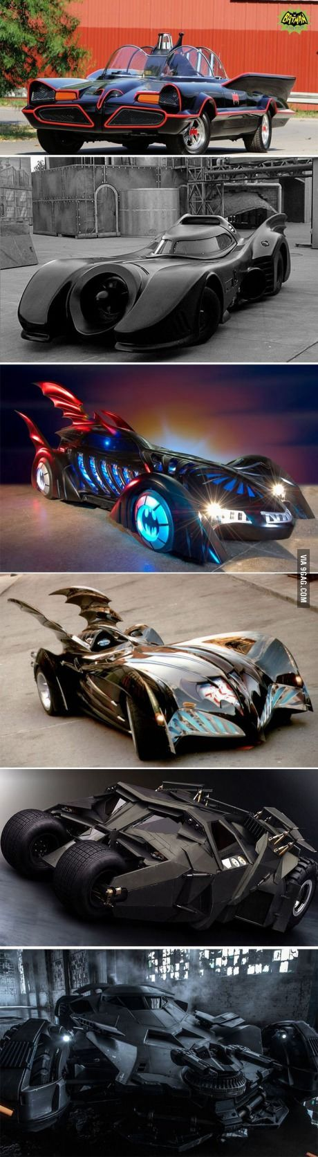 Evolution of the Batmobile