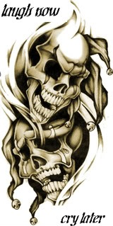 Aztec Ink Tattoo Laugh Now Cry Later Skullsjpg Picture By