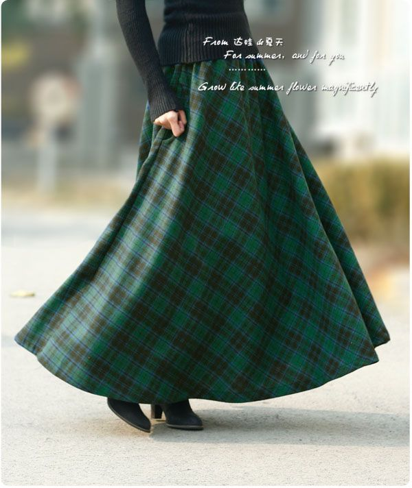 What a marvelous plaid skirt! If only I could get this in our family tartan!