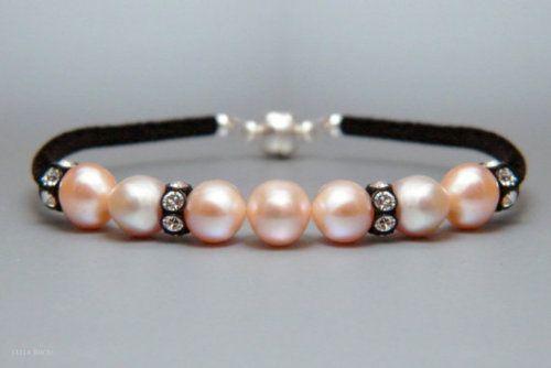 : Bracelets Swarovski, Pink Pearls, Lights Pink, Pretty Pink, Freshwater Pearls, Swarovski Crystals, Pink Freshwater, Pearls Bracelets, D I I Bracelets