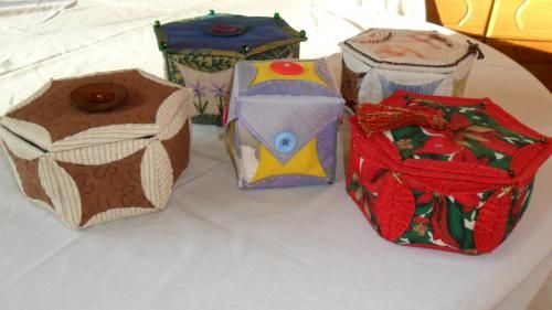 Japanese Folded Patchwork Boxes » Yours In Stitches