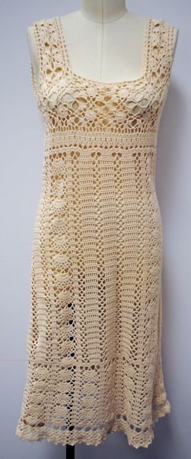 1960's Crochet Tank Dress | Vintage Clothing Sold Items Dresses | VintageVirtuosa.com