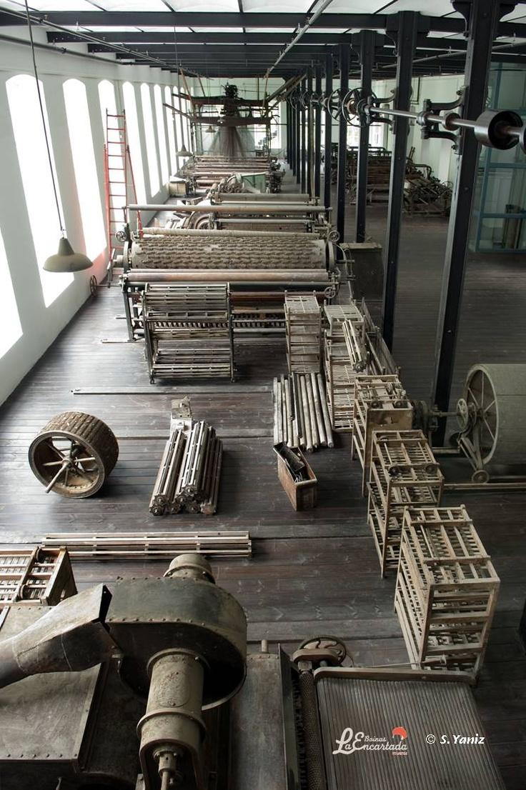 La planta de producción de mantas y paños. Otra joya del patrimonio industrial.